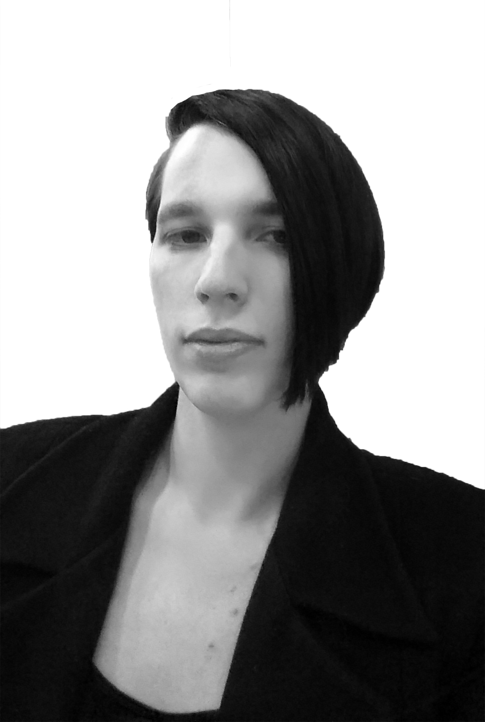 black and white photograph of our new executive editor, Vivian Veidt